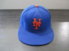 New Era New York Mets Hat Cap Fitted Size 7 5/8 Blue Orange MLB Baseball Mens
