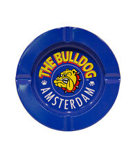 The Bulldog Coffee Shop Amsterdam -  Metal Ashtray in blue - Free uk p&p