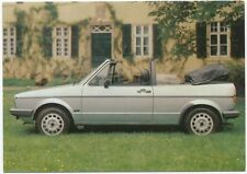 VW Golf Convertible by Karmann Original colour Postcard