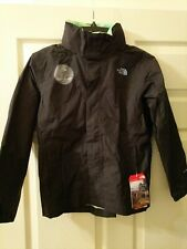 NWT The North Face Resolve Boy's Black Waterproof Jacket Size LARGE (14/16)