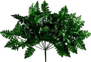 12 Leather Fern Stems Artificial Greenery Silk Flowers Fake Wedding Centerpiece