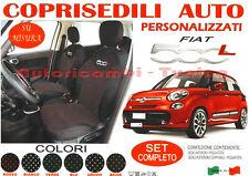 FODERE FODERINE COPRISEDILI AUTO A POIS ROSSI SU MISURA FIAT 500L DAL 2012