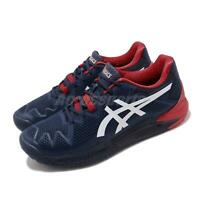 Asics Gel-Resolution 8 Peacoat White Red Men Tennis Shoes Sneakers 1041A079-400
