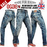 MENS MOTORBIKE MOTORCYCLE DENIM REINFORCED JEANS WITH PROTECTIVE LINING TROUSER3