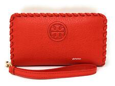 Tory Burch Marion Leather Smartphone Wristlet Samba Orange - FOR SMALLER PHONES