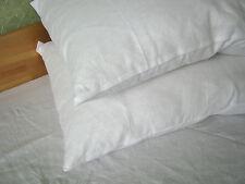 Two Linen Pillowcases 100% Pure Flax Shams White Pillow Slip Cushion Cover Case