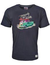 Herren T-Shirt VW Bulli Kult Fashion Print »READY TO RIDE« Surfer-Shirt Schwarz