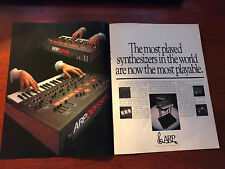 1978 VINTAGE 2 PAGE PRINT AD FOR ARP AXXE+ODYSSEY MOST PLAYED SYNTHESIZERS WORLD