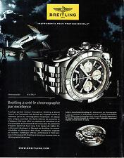 Publicité Advertising 038  2011   montre Chronomat  01 Breitling