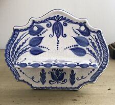 Russian Gzhel Blue White Porcelain Hand Hanging Shelf