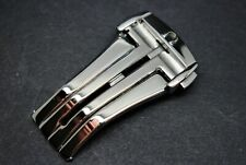 NEW 20MM OMEGA STAINLESS STEEL SILVER CLASP/BUCKLE FOR OMEGA WATCHES.