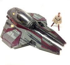 STAR WARS - OBI WAN KENOBI figure & JEDI FIGHTER ship vehicle