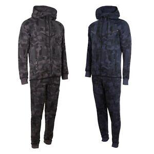 Mens Tracksuit Camouflage Camo Design  Slim Fit Joggers Pants Bottoms Zip Hoody