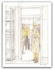 Ex-libris Juillard Blake Et Mortimer Inspection signé 12x15,7 cm