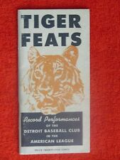 1948 DETROIT TIGERS FEATS RECORD INFO GUIDE 64 PAGES