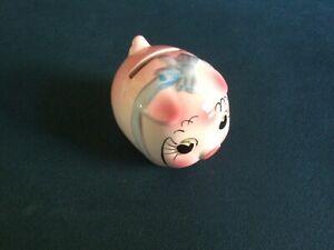 Small 1960s big eyed piggy bank money box