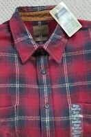 Flannel Shirt St Johns Bay Mens XL Extra Large Long Sleeve Red Plaid New NWT