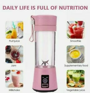 Portable Electric Fruit Juicer Handheld Smoothie Mini Blender Rechargeable 380ML