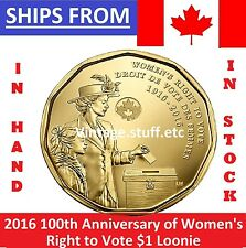 ** SEALED ** 2016 Canada $1 Dollar Loonie Coin UNC Women's Right to Vote MS **