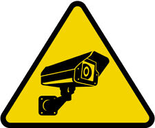 45-200mm CCTV Triangle Sign Sticker Safety Warning Camera