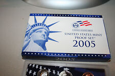 2005 US Coin Mint Proof Set 11 Coins Dollar Kennedy Half COA Free Shipping 67770