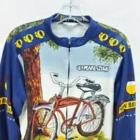 Fat Tire Ale Beer L Pearl Izumi Bike Cycling Jersey  Men's Long Sleeve Made USA