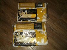 """2 Unused VERA By Burlington DAISY CHAIN Gold FITTED Sheets 39"""" x 75"""""""