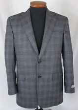 Men's HICKEY FREEMAN Gray Black Silk Wool Jacket Blazer 38 R 38R NWT NEW $895+