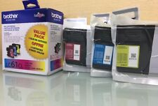 Genuine Brother LC61CL 3 Pack Ink Cartridge Cyan Magenta Yellow (BR2)
