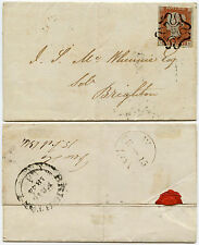 MALTESE CROSS NUMBER 10 GB VICTORIA PENNY RED IE on COVER...cv £1000