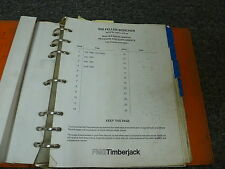 Timberjack 608 Feller Buncher Logging  Master Parts Catalog Manual S/N 54001-Up