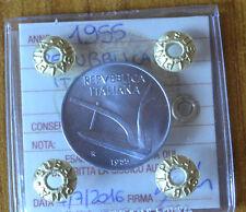 REPUBBLICA ITALIANA 10 LIRE 1955  SIGILLATA FDC numismatica SUBALPINA
