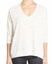 GIBSON ~ Women's Oversized Drop Shoulder V-Neck Sweater Top ~ Size Small
