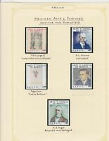 mexico arts & sciences scientists stamps page ref 17243
