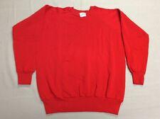 Vintage 80S Solid Blank 50/50 Blend Action Red Beatnik Adult Mens Sweatshirt Xl
