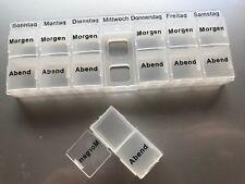 Pillendose Medikamentenbox 7 Tage 2 Fächer Tablettenbox Pillenbox Tablettendose