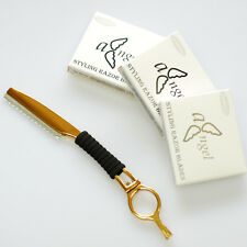 Pro Hairdressing Hair Feathering Razor + 30 blades / Hair Cutting Thinning #RG30