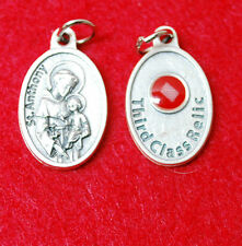 St. ANTHONY RELIC MEDAL - WITH CLOTH TOUCHED TO HIS RELIC IN ROME