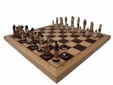 Schach Schachspiel intarsie Ägypten Handbemalt 65 x 65 cm König 23 Marmor Holz