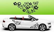 2x farfalla fiore vinile auto grafiche Adesivi Decalcomanie BIG molti colori