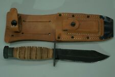 Ontario Air Force Pilot Survival Fixed Blade Knife w/ Sheath Stone 5-94 NICE