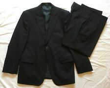 "Tom English Mens Wool Rich Black 2 Piece Suit 40S Jkt 34/27"" Trousers"