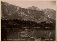 Knudsen. Norvège, Parti af Veien Til Garhammer, Mauranger Vintage albumen print.