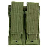 NcSTAR CVP2P2931G Molle Double Pistol Magazine Pouch w/Top Strap Cover OD Green