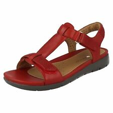 Clarks 261250864 Sandali Donna Rosso (red Leather) 42 EU