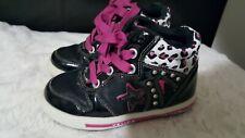 Venice Black Purple White Toddler Girl Shoes Size 25 Eu