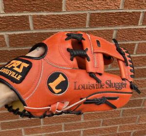 """Louisville Slugger GTPS-540 11"""" Baseball Softball Glove TPS Leather Orange LEFT"""