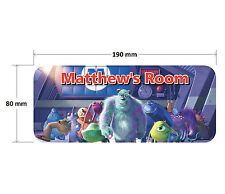 Monsters Inc Door Plaque - Disney Sully Mike Personalised Childrens Bedroom Sign