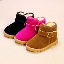 New Children snow boots baby boys girls Fur short Ankle boots warm winter  #