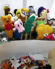 Fingerpuppen 10 Stück handgestrickt Kinder Spielzeug verschiedene bunt Tiere